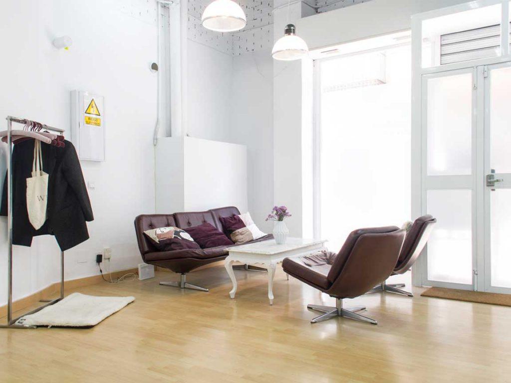 Sala de descanso en coworking malaga