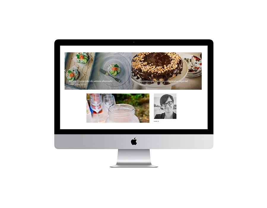 Web y diseño de blog de cocina malaga