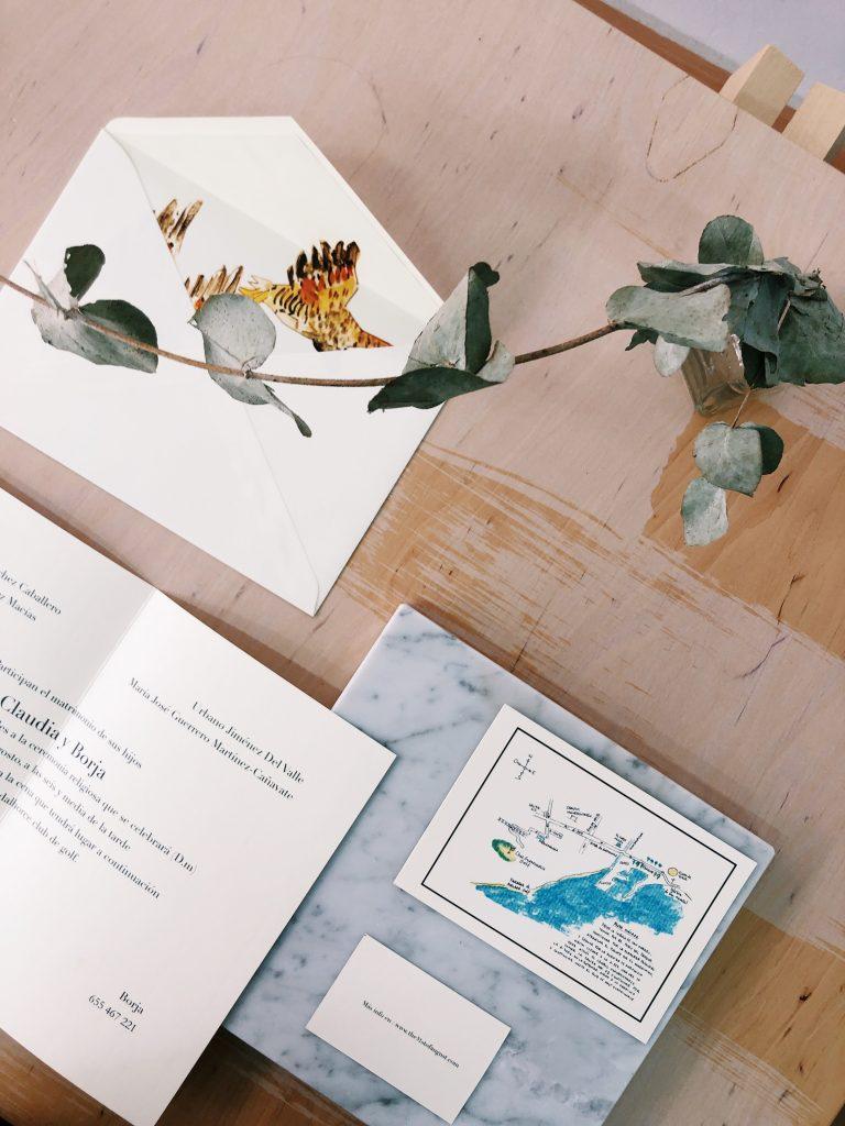 Invitación de boda clásica Málaga