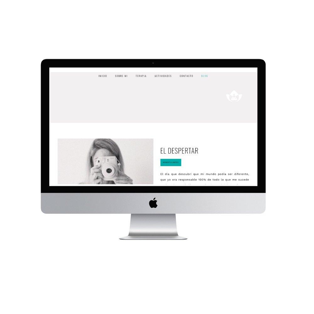 Diseño de página web Mabel Mindfulness