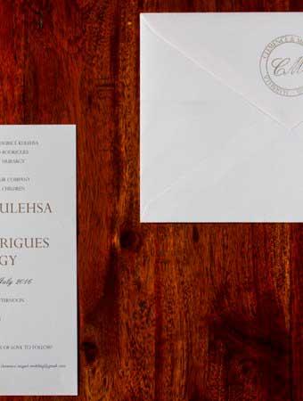invitación clásica boda
