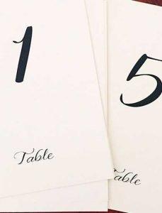 números de mesa malaga